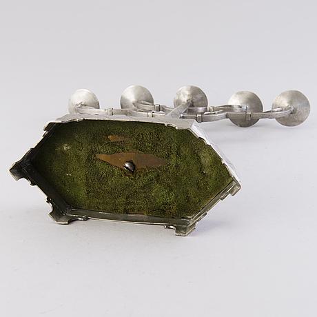 Hilding ekelund, a 1930s pewter candelabrum for taidetakomo hakkarainen, finland