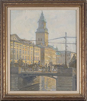 AXEL ERDMANN, oil on canvas, signed and dated 1915.