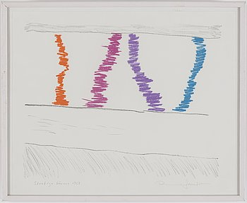RUNE JANSSON, Färglitografier, 3 st, signerade.