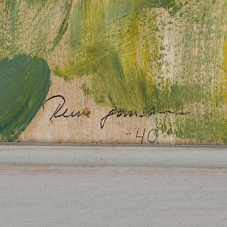 Rune jansson, olja på pannå, signerad och daterad  40