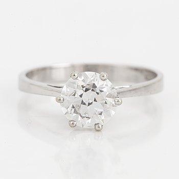 ENSTENSRING, med en gammalslipad diamant ca 1,20 ct.