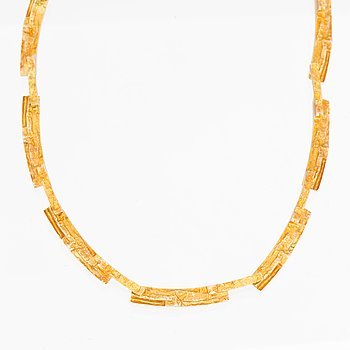 """A NECKLACE, 14K gold. """"Tundra"""", Lapponia 1971."""