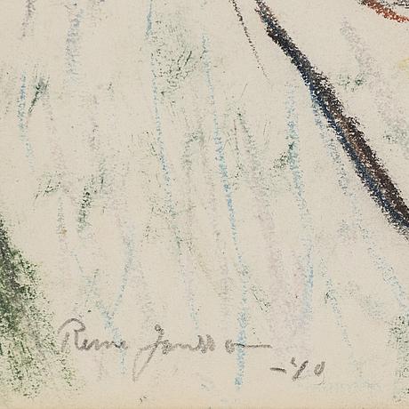 Rune jansson, kritteckning, signerad och daterad  40