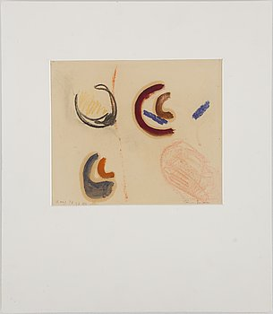 RUNE JANSSON, watercolour, signed and dated 13 aug -48.