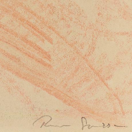 Rune jansson, akvarell, signerad och daterad 13 aug  48