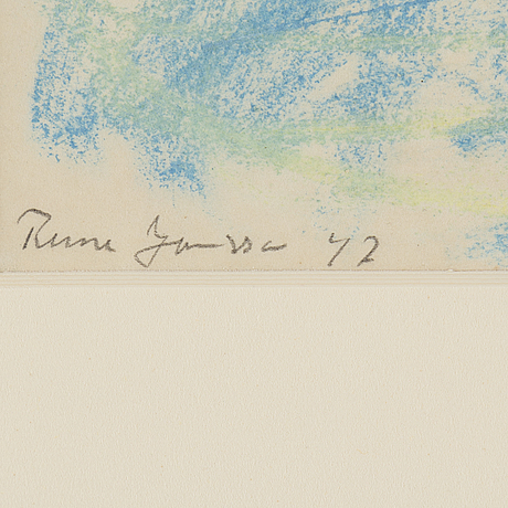 Rune jansson, pastel, signed and dated  42