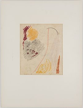 RUNE JANSSON, Chalk drawing, signed and dated -50.