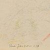 Rune jansson, kritteckning, signerad och daterad  50