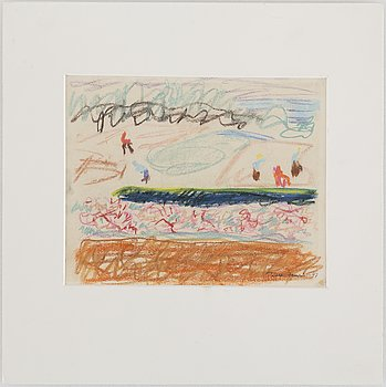 RUNE JANSSON, pastel, signed and dated -47.