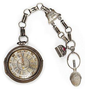 1112. A pocket watch by T. Swetman, London circa 1750.