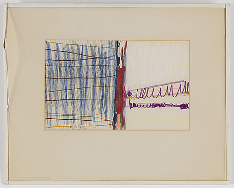 Rune jansson, mixed media, signed and dated  63