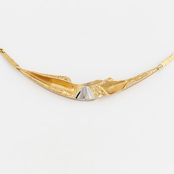 COLLIER, Lapponia, 14K guld. 1990.