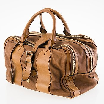 BURBERRY Leather Weekend Bag.