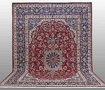 A carpet, Najafabad, around 500 x 340 cm.