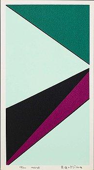 OLLE BAERTLING, färgserigrafi, signerad och daterad 1965-68 samt numrerad 58/300.