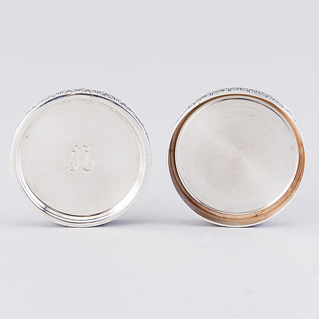 A set of six silver coasters, mark of holger lindström, helsinki 1967