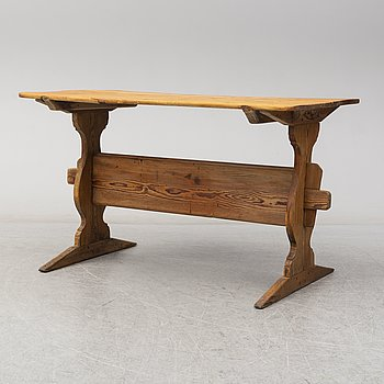 A Swedish early 19th century pine table.