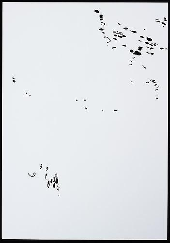 Katharina hinsberg, signed k. hinsberg and dated 31.8.2000 rt 60 quenado - socorro. perforated paper.