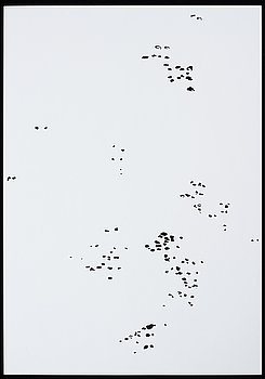 KATHARINA HINSBERG, Signed K. Hinsberg and dated 1.9.2000 van Horn = Marfa. Perforated paper.