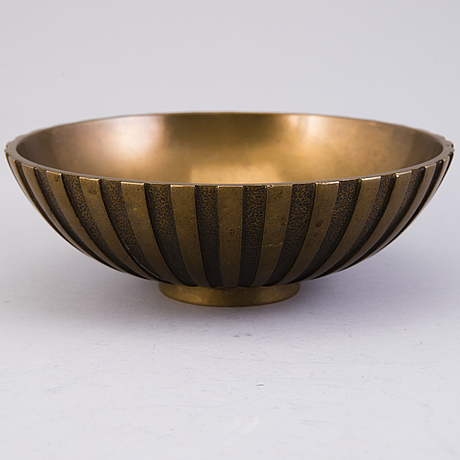 A bowl by timos bronce denmark from the latter half of the 20th century