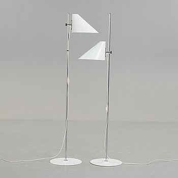 "A pair of second half of the 20th century ""G185"" floorlights by Hans-Agne Jakobsson."