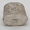 A silver filigree tea caddy, moscow 10th century.