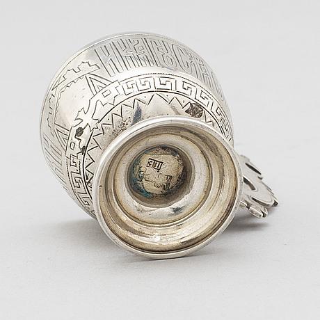A russian silver vodka cup, circa 1880.