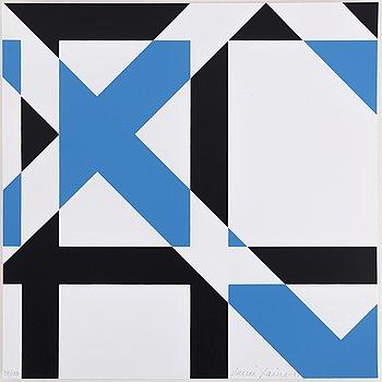 LAURI LAINE, färgserigrafier, 3 st, signerade, daterad 1981, numrerade 34/100.