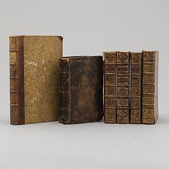 BÖCKER, 6 st, 1600/1700-tal.