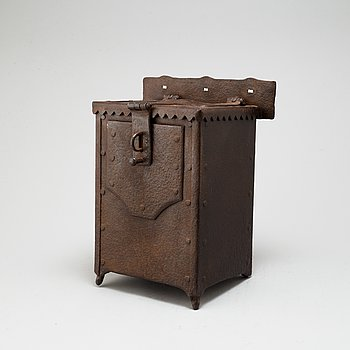 A possibly 17th century iron collect box.