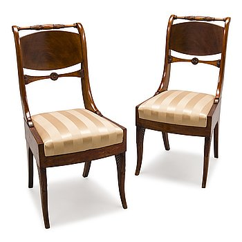 76. A PAIR OF CHAIRS, late empire, Russia, first half of 19th Century.