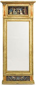 13. A Gustavian mirror, late 18th Century.