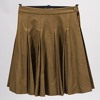 CHLOÉ  PLEATED WOOL SKIRT in size 38(FR).