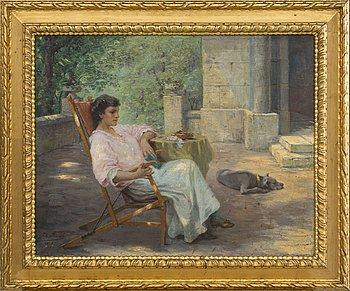 JOHANNA KIRSCH, olja på duk, signerad och daterad 1919.