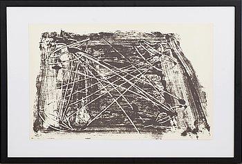 ANTONI TÀPIES, färglitografi, ur Derrière le Miroir nr 210 1974.