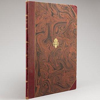 "PLANSCHVERK, C.L. Billmark, ""Aquarell-Lithographer och Tontryck - Teckningar efter naturen Sverige"", 1800-talets slut."