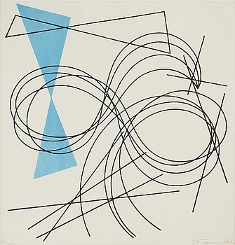 SOPHIE TÄUBER-ARP, lithograph in colours, signed and numbered 84/100.