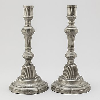 CANDELSTICKS, a pair, Louis XV, France, 18th century.