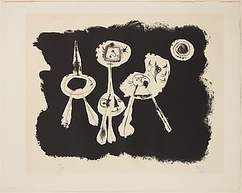 JOAN MIRÓ, lithograph, signed and numbered 15/75.