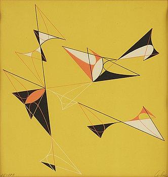 RICHARD LOHSE, färglitografi, signerad och numrerad 85/100.