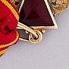 Kunniamerkki, pyhän annan ritarikunta, 3. luokka, kultaa (56) ja emalia, venäjä, 1800-luvun loppu.