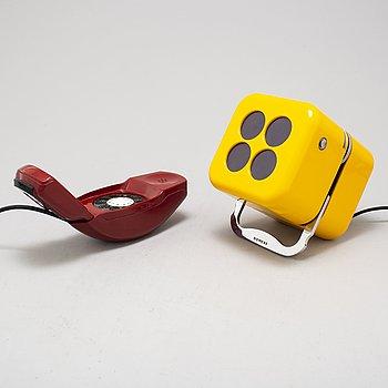"MARCO ZANUSO & RICHARD SAPPER, telefon ""Grillo"". LUIGI BANDINI BUTI "" Alpha 2"" radio, Siemens, 1960-tal."