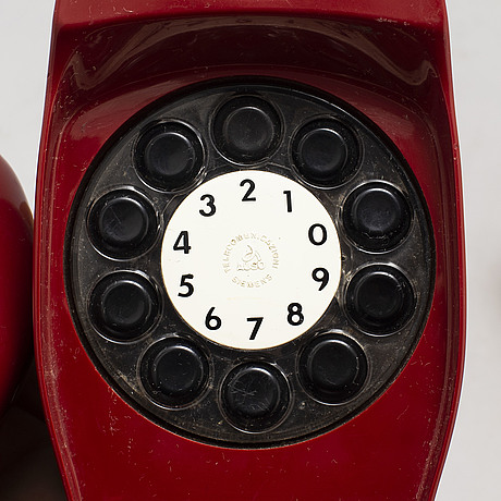 "Marco zanuso & richard sapper, telephone ""grillo"". luigi bandini buti "" alpha 2"" radio,. siemens 1960's."