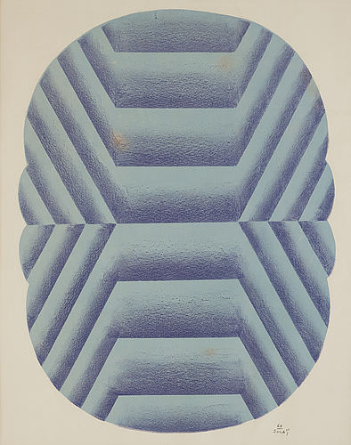 Kumi sugai, lithograph in color, signed and dated -64.