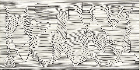 Victor vasarely, indian ink, signed in pencil.