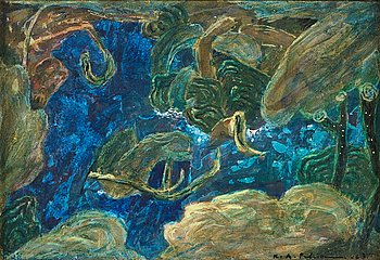 KARL AXEL PEHRSON, oil on canvas, signed and dated -63.