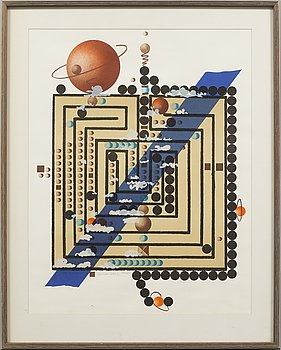 CARL FREDRIK REUTERSWÄRD, lithograph in colours, signed and numbered 143/200.