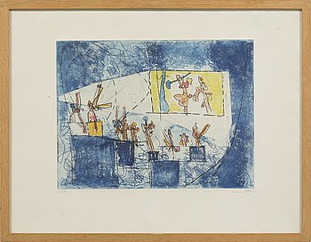 ROBERTO MATTA, litograph in colors, signed and numbered 16/50.