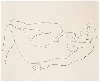 HENRI MATISSE, Lithograph on Japon, 1925, signed and numbered 8/25.