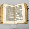 Book, incunable, rome 1491.